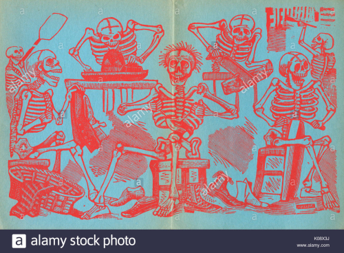 Posada-endpapers-skeletons-of-tradesmen-including-a-tailor-a-shoemaker-K08X3J