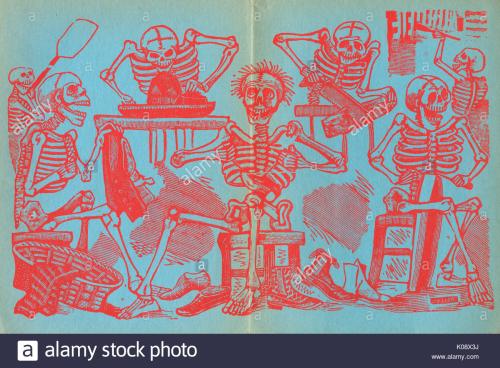 Posada-endpapers-skeletons-of-tradesmen-including-a-tailor-a-shoemaker-K08X3J