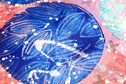 Balzer Designs Blog: Round Gelli Plate + Stamps