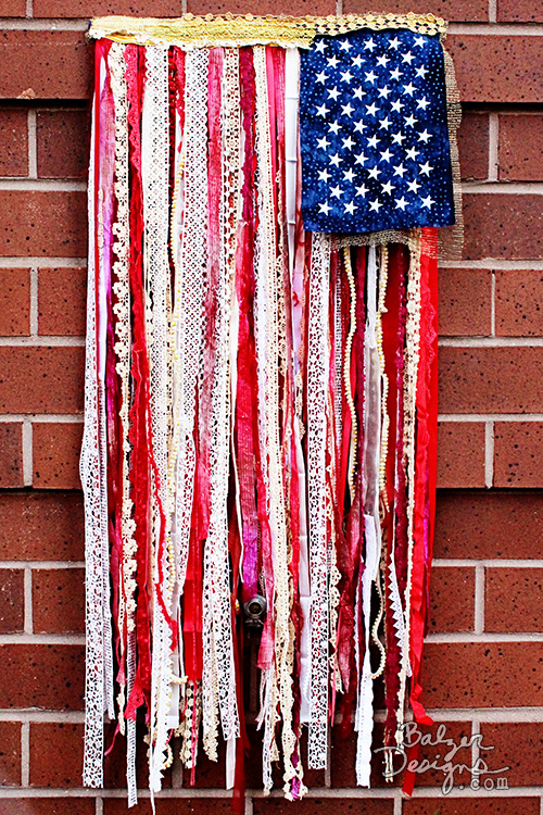 DIY Ribbon Flag | Craft sewing projects | Memorial Day Crafts You Can Sew To Show Your Patriotism | Sewing.com
