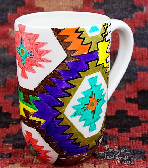 from the Balzer Designs Blog: Rug Mugs #paintedbyme