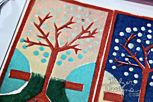 from the Balzer Designs Blog: Three Part Layered Tree Stamp #stampcarving