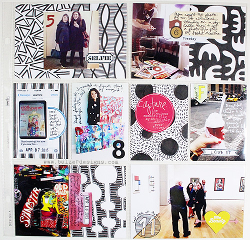 from the Balzer Designs Blog: Scrapbook Soup: Black & White #ProjectLife Cards