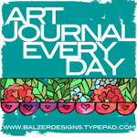 from the Balzer Designs Blog: Art Journal Every Day (video in the post) #artjournal
