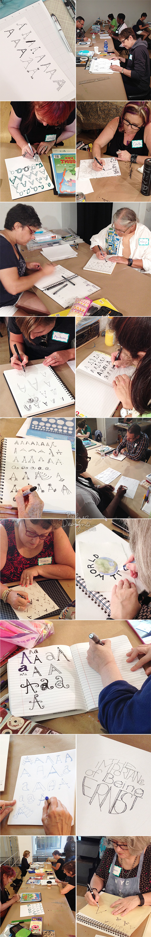 from the Balzer Designs Blog: Hand Lettered Class at The Ink Pad