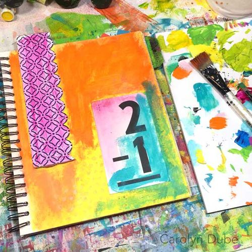 from the Balzer Designs Blog: Guest Post: Tissue Box Inspiration with Carolyn Dube #artjournal Art Journal Every Day
