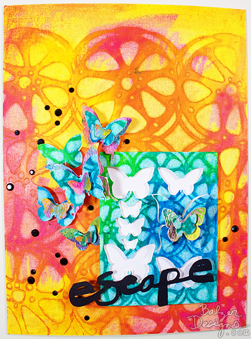 from the Balzer Designs Blog: Exploring Distress Crayons #timholtz