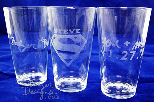 from the Balzer Designs Blog: Valentine's Week: Etched Glasses for Your Sweetheart