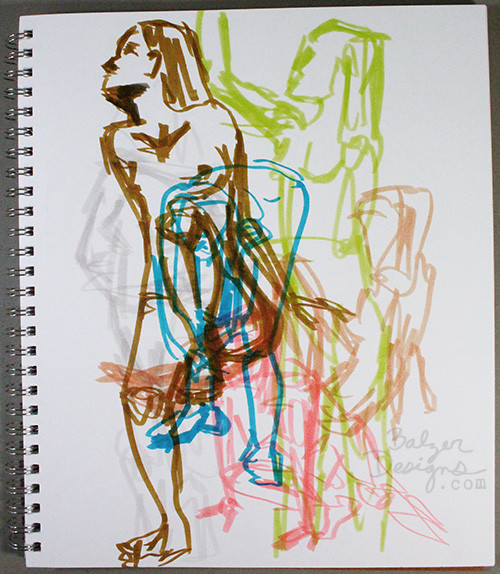 from the Balzer Designs Blog: Quick Figure Drawing Sketches at the Boston Figurative Art Center