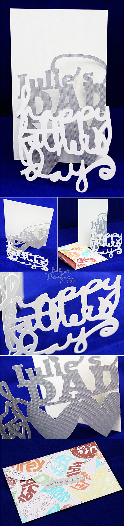 from the Balzer Designs Blog: Two Tri-Fold Cards