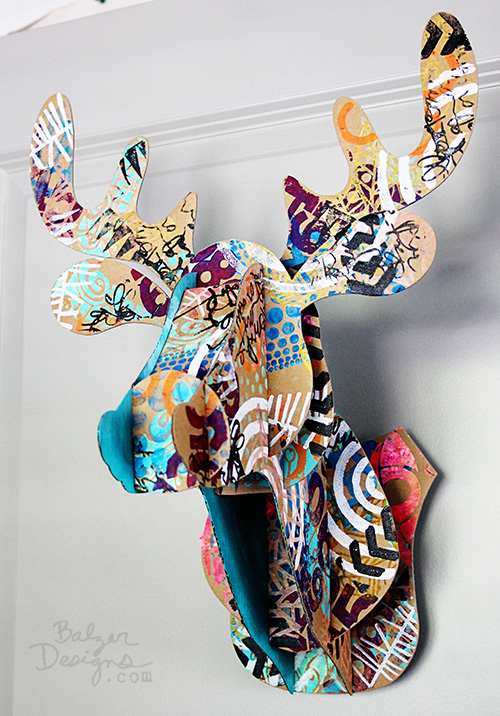 from the Balzer Designs Blog: Art Foamies + Reindeer Head = Awesome