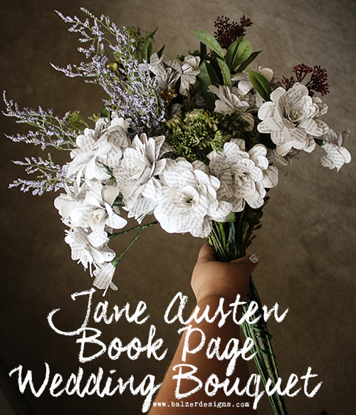 from the Balzer Designs Blog: Riv's Jane Austen Book Page Paper Flower Bouquet