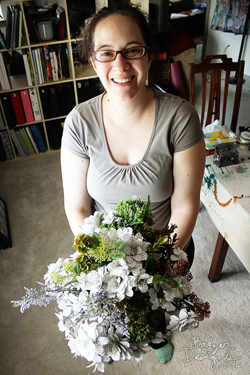 from the Balzer Designs Blog: How to Make Paper Flowers from Book Pages