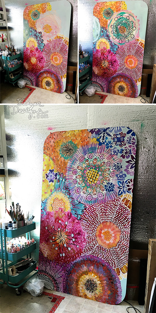 from the Balzer Designs Blog: Painted Table: The Process (part one)