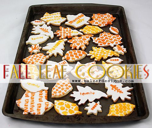 from the Balzer Designs Blog: #ScanNCut Project: Fall Entertaining Means Decorated Cookies!
