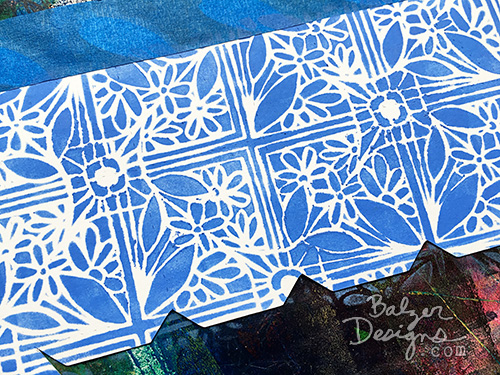 from the Balzer Designs Blog: Stenciled Gift Box
