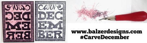 from the Balzer Designs Blog: #CarveDecember