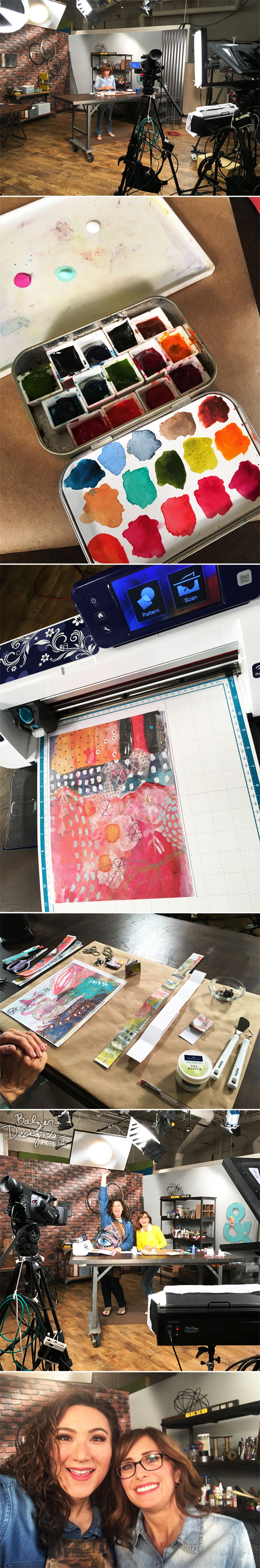 From the Balzer Designs Blog: Behind the Scenes of Make It Artsy: Season Two
