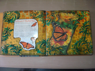 Joys Art Journal Page Monarch Butterflies 1