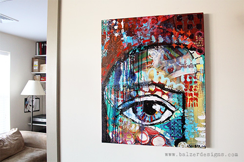 from the Balzer Designs Blog: 100 Canvases: Canvas #37 (#7 Transformed)