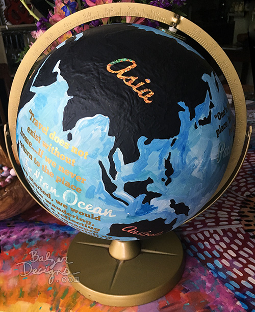 from the Balzer Designs Blog: #ScanNCut Project: Painted Globe