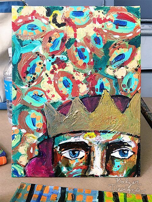 from the Balzer Designs Blog: Acrylic Expressionism Class with Ria Brodell at the MFA