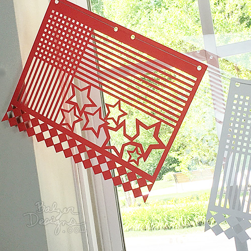 from the Balzer Designs Blog: Modern Papel Picado for Fourth of July
