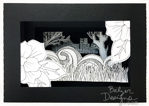 from the Balzer Designs Blog: Peepshow or Tunnel Book for my Dad