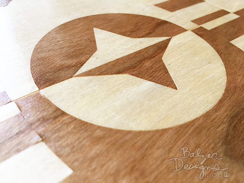 from the Balzer Designs Blog: #ScanNCut Wood Inlay Table