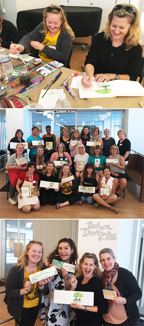 From The Balzer Designs Blog: Sketchbook Class at the Ink Pad