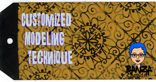 From the Balzer Designs Blog: Summer Stencil Techniques with Suzanne: Customized Modeling