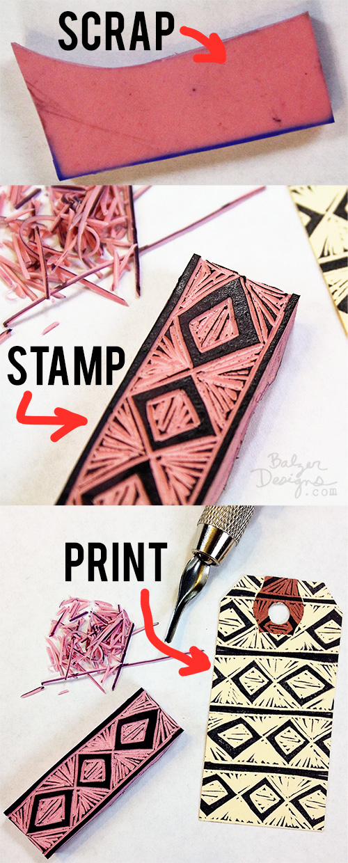 Balzer Designs Blog: Garbage Stamps