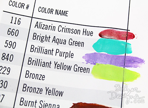 Art Tip from the Balzer Designs Blog: Make Paint Swatches