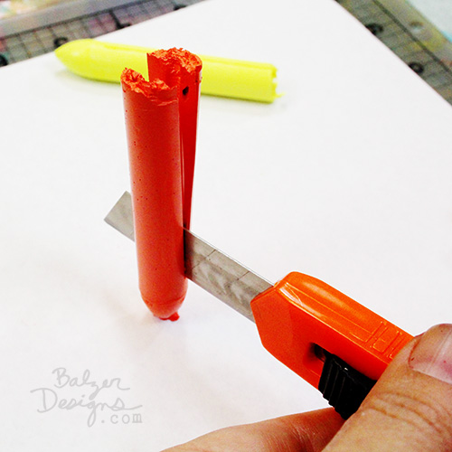from the Balzer Designs Blog: Sakura Solid Marker Hack TUTORIAL