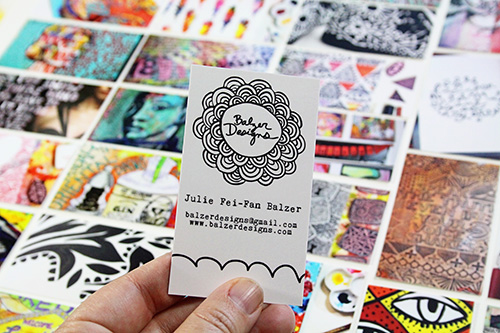 from the Balzer Designs Blog: New Moo Business Card