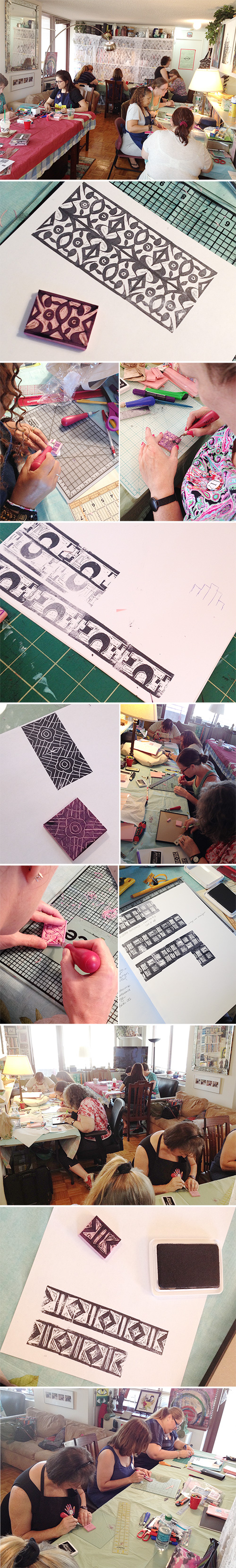 from the Balzer Designs Blog: Carving Stamps for Patterning Class #stampcarving