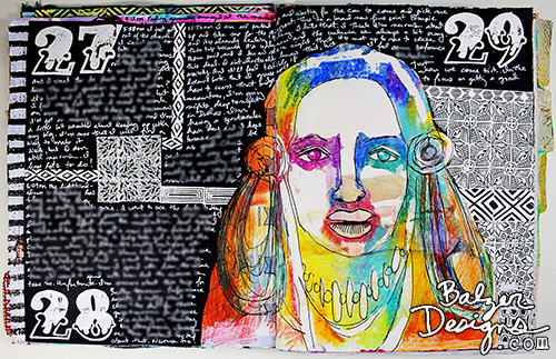 From the balzer designs blog art journal every day artjournal