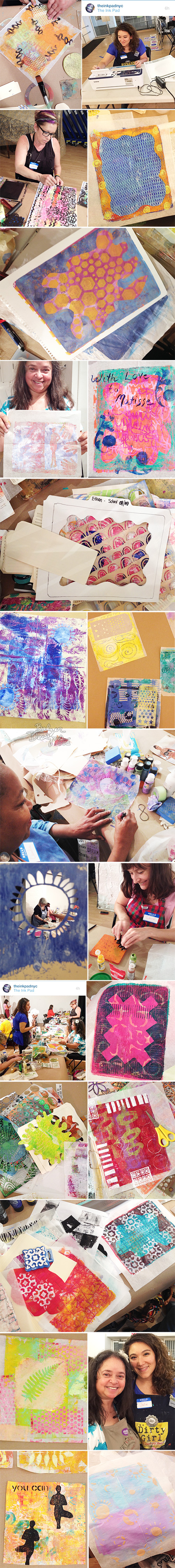 from the Balzer Designs Blog: Gelli + Deli at The Ink Pad