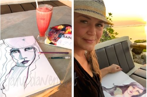 from the Balzer Designs Blog: Art Journal Every Day: Guest Post: Travel Journaling with Jane Davenport