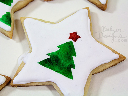 from the Balzer Designs Blog: Stamped & Stenciled Holiday Cookies