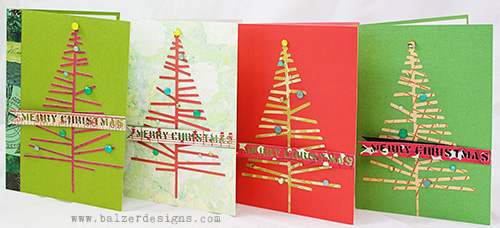 from the Balzer Designs Blog: Christmas Tree Pop-Up Cards