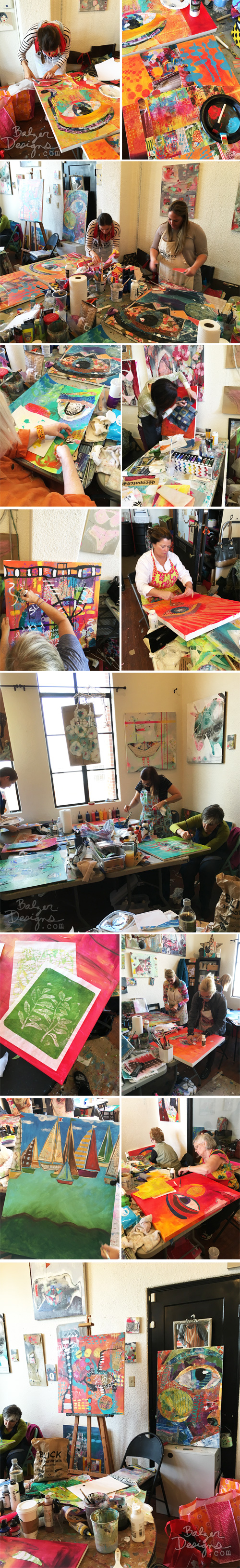 from the Balzer Designs Blog: Big Collage at Studio Crescendoh