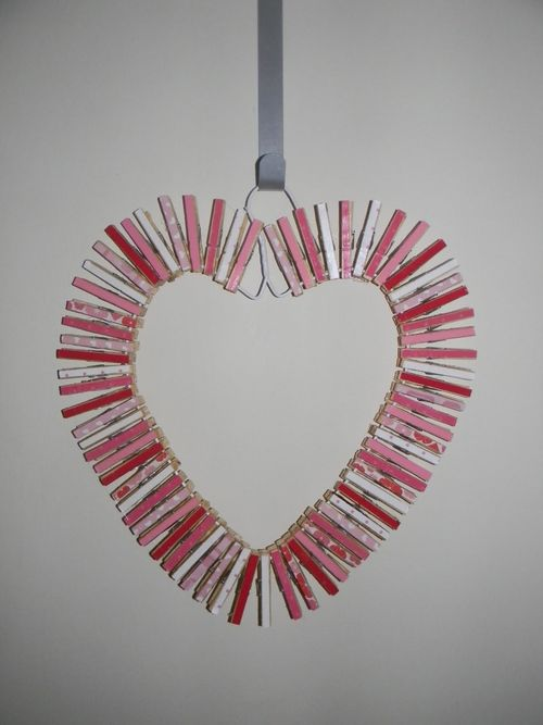 from the Balzer Designs Blog: Clothespin With a Secret Message #valentinesday