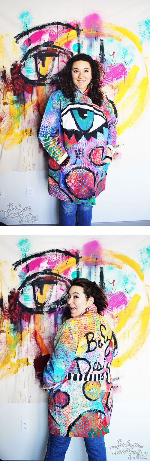 from the Balzer Designs Blog: Julie & the Amazing Technicolor Dream Coat