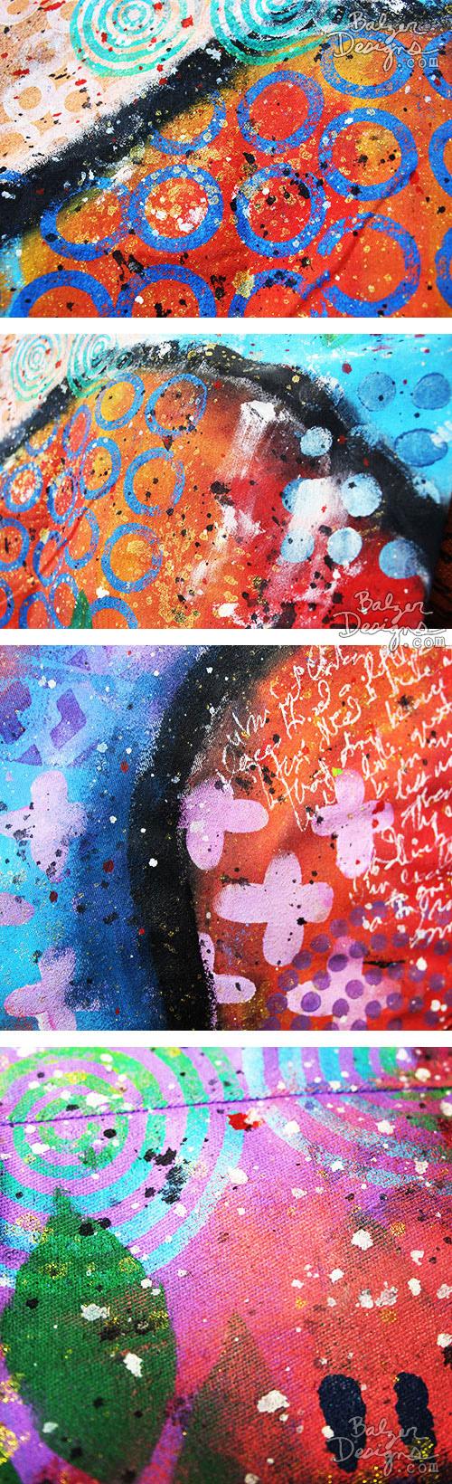from the Balzer Designs Blog: Julie & the Amazing Technicolor Dream Coat