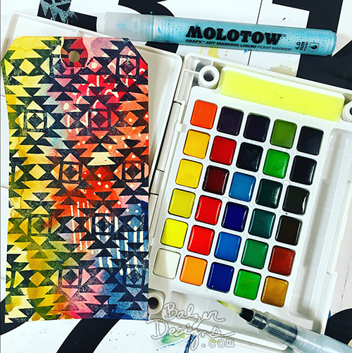 from the Balzer Designs Blog: Exploring Art Supplies: Molotow Masking Fluid Markers