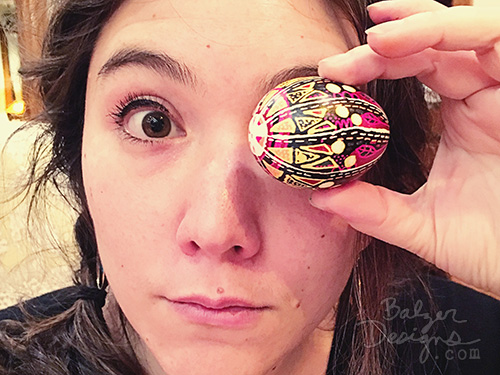 from the Balzer Designs Blog: Pysanky Eggs