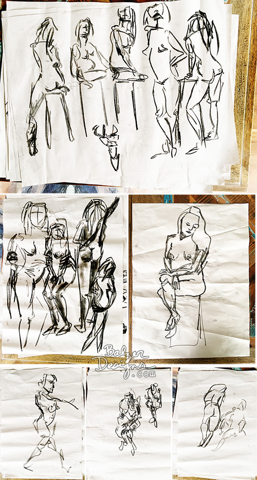 from the Balzer Designs Blog: Dynamic Drawing in Byron Bay