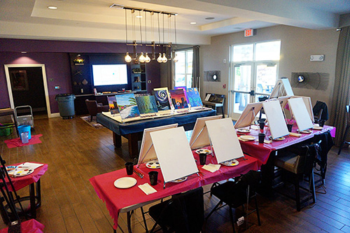 from the Balzer Designs Blog: Paint & Sip Night