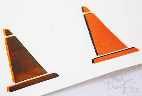 from the Balzer Designs Blog: Technique Tutorial: Stencil AND Stamp Bumping #ArtFoamies
